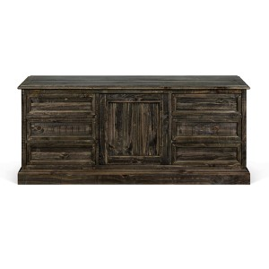 Bellamy Pewter Wood Buffet Curio Cabinet
