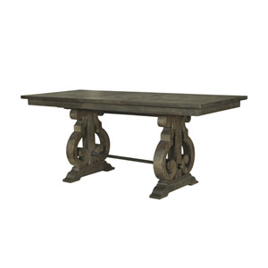 Uttermost Stratford Stony Gray Wash Salvaged Wood Dining