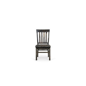 Bellamy Deep Weathered Pine Wood Dining Chair