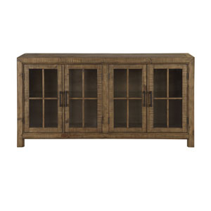 Willoughby Buffet Curio Cabinet in Weathered Barley