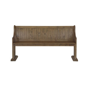 Willoughby Wood Bench in Weathered Barley
