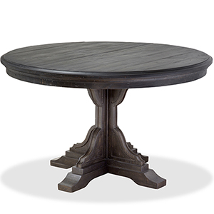Bedford Corners Round Dining Table in Anvil Black