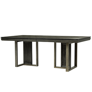 Proximity Heights Contemporary Double Pedestal Table