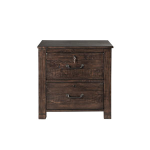 Pine Hill Lateral File Cabinet in Rustic Pine