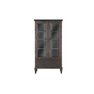 Sutton Place Door Bookcase in Weathered Charcoal