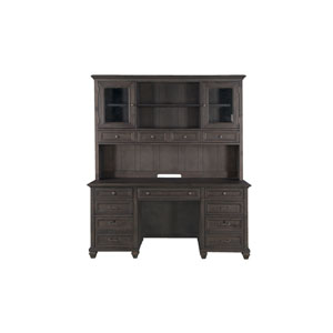Sutton Place Credenza with Hutch in Weathered Charcoal
