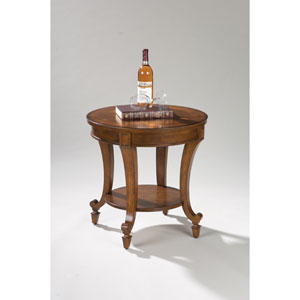 Aidan Cinnamon Round End Table
