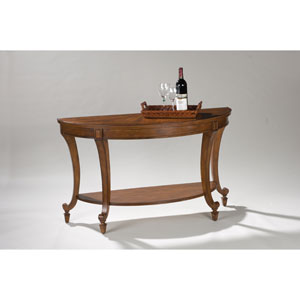 Aidan Cinnamon Demilune Sofa Table
