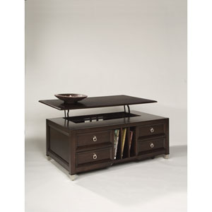 Darien Burnt Umber Lift Top Cocktail Table