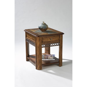 Madison Warm Nutmeg Rectangular Drawer End Table