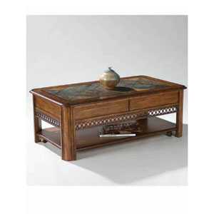 Madison Warm Nutmeg Rectangular Lift Top Cocktail Table