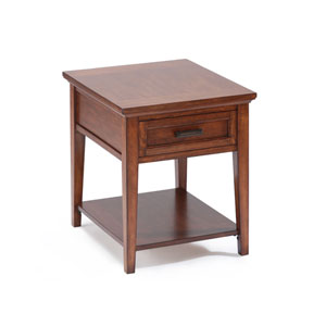 Harbor Bay Toffee Rectangular End Table
