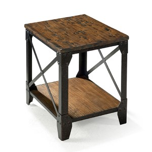 Pinebrook Distressed Natural Pine End Table