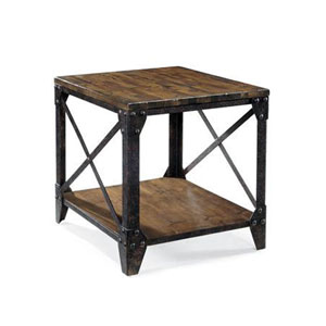 Pinebrook Natural Pine Rectangular End Table