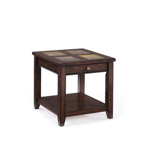 Allister Cinnamon Rectangular End Table