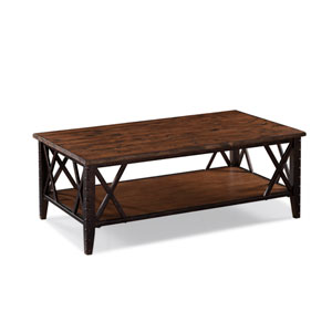 Fleming Wood and Metal Rectangular Cocktail Table