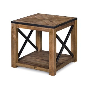 Penderton Natural Sienna Wood Rectangular End Table