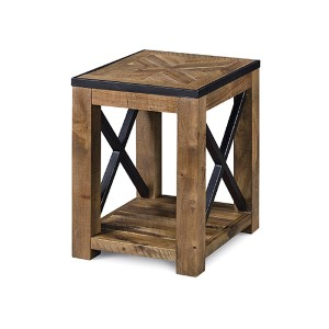 Penderton Natural Sienna Wood Chairside End Table