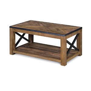 Penderton Natural Sienna Wood Small Rectangular Cocktail Table