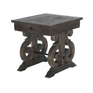 Bellamy Rectangular End Table in Weathered Pine