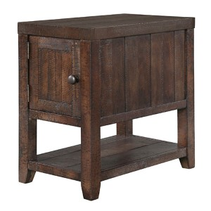 Caitlyn Distressed Natural Chairside Table