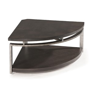 Alton Platinum Charcoal Cocktail Table with Casters