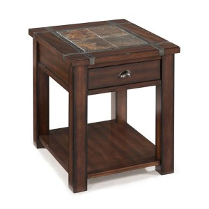 Roanoke Cherry and Slate End Table