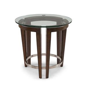 Carmen Round End Table in Hazelnut