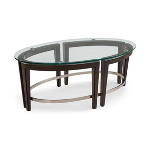 Carmen Oval Cocktail Table in Hazelnut