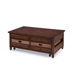 Cottage Lane Wood Rectangular Lift-top Cocktail Table