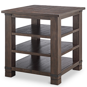 Pine Hill Square End Table in Rustic Pine