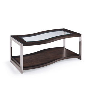 Lynx Wood Rectangular Cocktail Table w/ Casters