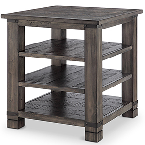 Abington Square End Table in Rustic Pine