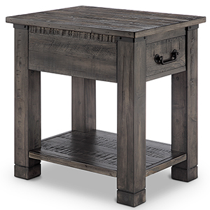 Abington Rectangular End Table in Rustic Pine