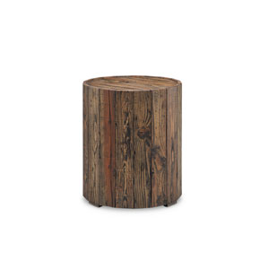 Dakota Round End Table in Rustic Pine