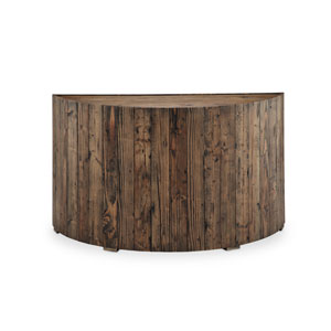 Dakota Demilune Sofa Table in Rustic Pine