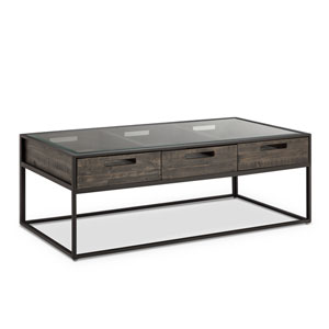 Claremont Rectangular Cocktail Table in Weathered Charcoal