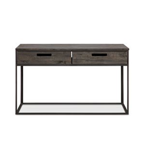 Claremont Rectangular Sofa Table in Weathered Charcoal
