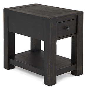 Easton Rustic Rectangular End Table in Dark Chocolate