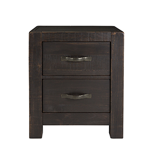 Easton Rustic 2 Drawer Nightstand in Dark Chocolate