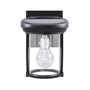 Solar Coach Lantern Black LED Solar Coach Light