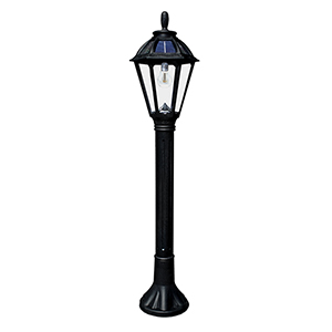 Polaris Black LED Solar Bollard Lamp