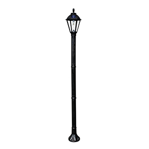 Polaris Black LED Solar Lamp Post