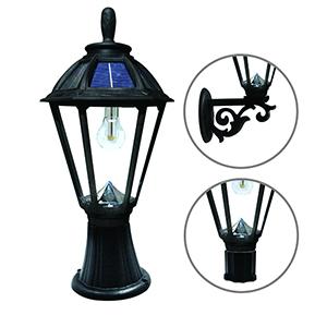 Polaris Black LED Solar Post Lamp