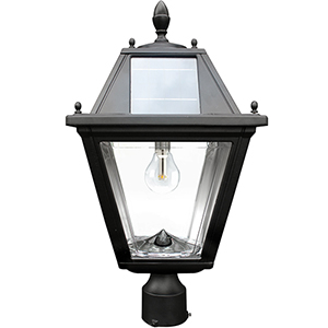 Regal Black LED Solar Post Lamp