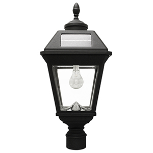 Imperial Black LED Solar Post Lamp