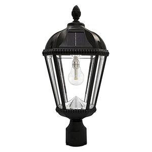 Royal Black LED Solar Post Lamp