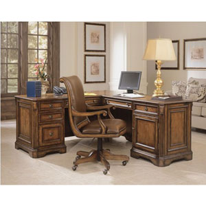 Brookhaven Executive L Pedestal Desk with Right Return