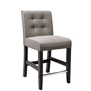 Antonio Counter Height Barstool in Grey Tweed Fabric