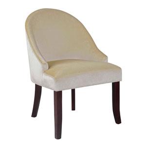 Antonio Soft Cream Velvet Accent Chair